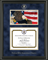 National Rifle Association of America Certificate Frame - Eagle Edition Certificate Frame in Midnight