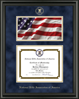 National Rifle Association of America Certificate Frame - Flag Edition Certificate Frame in Midnight