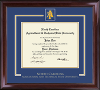 North Carolina A&T State University Diploma Frame - Spirit Medallion Diploma Frame in Encore