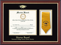 Mortar Board National College Senior Honor Society Certificate Frame - Stole Certificate Frame in Newport