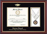 Mortar Board National College Senior Honor Society Certificate Frame - Medal Certificate Frame in Newport