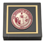 The University of Alabama Tuscaloosa Paperweight - Crimson Masterpiece Medallion Paperweight
