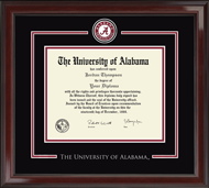 The University of Alabama Tuscaloosa Diploma Frame - Spirit Medallion Diploma Frame in Encore