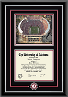 The University of Alabama Tuscaloosa Diploma Frame - Spirit Medallion Stadium Scene Diploma Frame in Onyx Silver