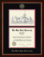 The Ohio State University Diploma Frame - Campus Scene Overly Photo Diploma Frame in Murano