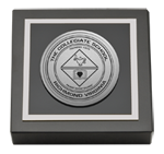 Collegiate School  Paperweight - Silver Engraved Medallion Paperweight