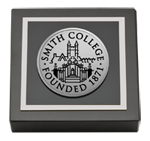 Smith College Paperweight - Silver Engraved Medallion Paperweight