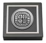 University of Bridgeport Paperweight - Silver Engraved Medallion Paperweight