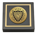 Reed College Paperweight - Gold Engraved Medallion Paperweight