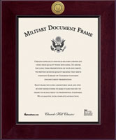 United States Navy Certificate Frame - Century Gold Engraved Certificate Frame in Cordova
