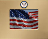 United States Navy Photo Frame - MedallionArt Classics Photo Frame