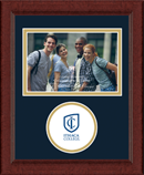 Ithaca College Photo Frame - Lasting Memories Circle Logo Photo Frame in Sierra