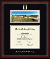 Martin Methodist College Diploma Frame - Campus Scene Diploma Frame in Sutton