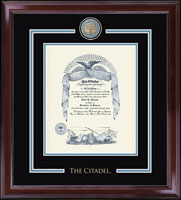 The Citadel The Military College of South Carolina Diploma Frame - Showcase Edition Diploma Frame in Encore