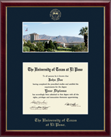 University of Texas at El Paso Diploma Frame - Campus Scene Diploma Frame in Galleria