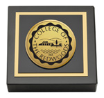 College of the Redwoods Paperweight - Gold Engraved Medallion Paperweight