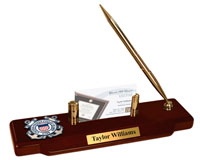 United States Coast Guard Desk Pen Set - Masterpiece Medallion Desk Pen Set