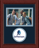 Thomas Jefferson University Photo Frame - Lasting Memories Circle Logo Photo Frame in Sierra