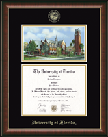 University of Florida Diploma Frame - Campus Scene Edition Diploma Frame in Murano