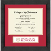 College of the Redwoods Diploma Frame - Lasting Memories Banner Diploma Frame in Arena