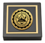 Indiana Wesleyan University  Paperweight - Gold Engraved Medallion Paperweight