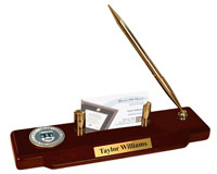 Brandeis University Desk Pen Set - Masterpiece Medallion Desk Pen Set