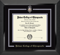 Palmer College of Chiropractic Iowa Diploma Frame - Spirit Medallion Diploma Frame in Eclipse