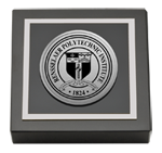 Rensselaer Polytechnic Institute Paperweight - Silver Engraved Medallion Paperweight