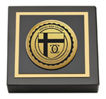 Central Bible College Paperweight - Gold Engraved Medallion Paperweight