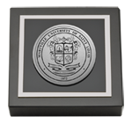 Maryville University of St. Louis Paperweight - Silver Engraved Medallion Paperweight