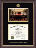 Supreme Court of the United States Certificate Frame - The Bench Gold Engraved Certificate Frame in Hampshire