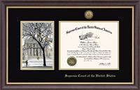 Supreme Court of the United States Certificate Frame - West Front Scene Gold Engraved Certificate Frame in Hampshire
