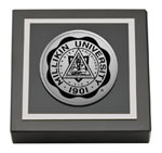 Millikin University Paperweight - Silver Engraved Medallion Paperweight