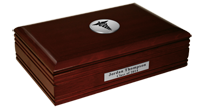 Southern Illinois University School of Medicine Desk Box - Silver Engraved Medallion Desk Box