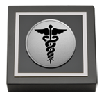 Southern Illinois University School of Medicine Paperweight - Silver Engraved Medallion Paperweight