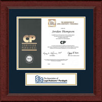 National Association of Legal Assistants & Paralegals Certificate Frame - Lasting Memories Banner Certificate Frame in Sierra