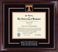 The University of Tennessee Knoxville Diploma Frame - Spirit Medallion Diploma Frame in Encore