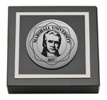 Marshall University Paperweight - Silver Engraved Medallion Paperweight