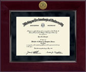 Michigan Technological University Diploma Frame - Millennium Gold Engraved Diploma Frame in Cordova