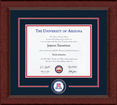 The University of Arizona Diploma Frame - Lasting Memories Circle Logo Diploma Frame in Sierra
