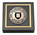 Colorado College Paperweight - Masterpiece Medallion Paperweight