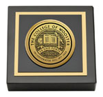 The College of Wooster Paperweight - Gold Engraved Medallion Paperweight