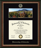 University of Colorado Boulder Diploma Frame - Campus Scene 'Fall Panorama' Diploma Frame in Murano