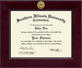 Southern Illinois University Carbondale Diploma Frame - Century Gold Engraved Diploma Frame in Cordova