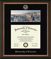 University of Colorado Boulder Diploma Frame - Campus Scene 'Winter Panorama' Diploma Frame in Murano