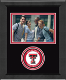 Texas Tech University Photo Frame - Lasting Memories Circle Logo Photo Frame in Arena