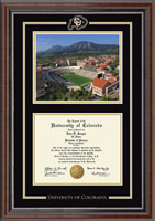 University of Colorado Boulder Diploma Frame - Spirit Medallion Stadium Scene Diploma Frame in Chateau