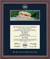 Pennsylvania State University Diploma Frame - Campus Scene Edition Diploma Frame - Nittany Lion in Kensit Gold