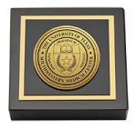 University of Texas Southwestern Medical Center Paperweight - Gold Engraved Medallion Paperweight