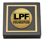 The Loss Prevention Foundation Paperweight - Gold Engraved Medallion Paperweight